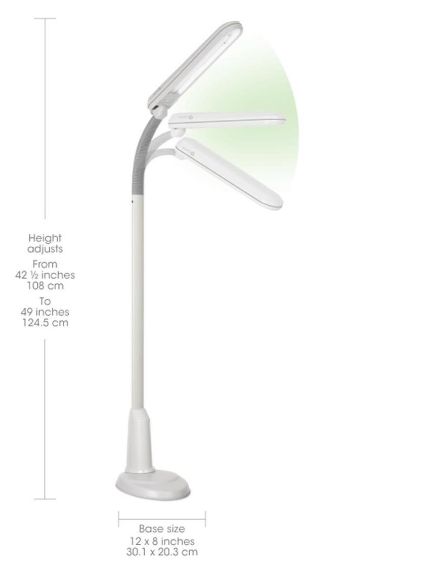 Ott-Lite L24554 Task Plus High-Definition 24-Watt Floor Lamp, Dove Grey by OttLite (Image #2)