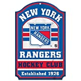 NHL New York Rangers 20562014 Wood Sign, 11'' x 17'', Black