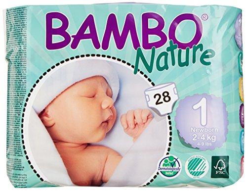 Bambo Nature Premium Baby Diapers, Newborn, Size 1…