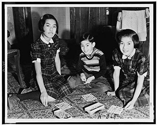 Photo: Seattle,Washington,Evacuation,Children play Bingo,Japanese American Girls,1942 by Infinite Photographs