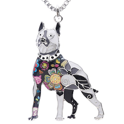 Luckeyui American Pit Bull Terrier Jewelry Gifts for Women Birthday Unique Dog Collection Animal Charm