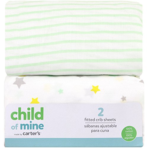 Child of Mine made by Carter's Counting Sheep Fitted Crib Sheet, 2 pk ()