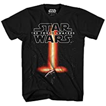 Star Wars boys Big Boys The Force Awakens Kylo Ren Light Saber T-shirt
