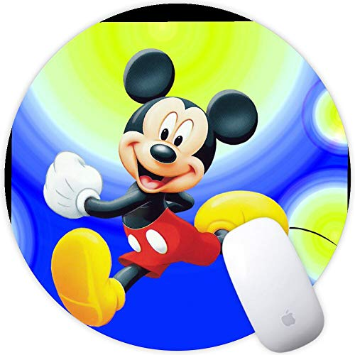 DISNEY COLLECTION Mouse Pad Mickey Mouse Cartoons Images Mobile Wallpapers HD Free Download Non-Slip Rubber for Computer PC Gaming Office Travel Laptop Home Black Prevalent