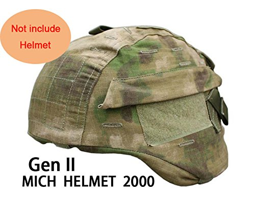 (H World Shopping Tactical Airsoft Military MICH 2000 Ver2 Helmet Cover with Back Pouch (AT-FG))
