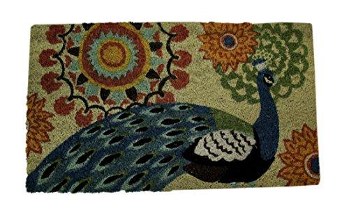 Evergreen Coir Mat, Peacock - Mat Coir Traditional