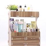 Mingteng Storage Box Fashion Wood Desk Desktop Multifunction Make Up Cosmetic Storage Box Storage Box Home Storage Box Planters (Size : 4)