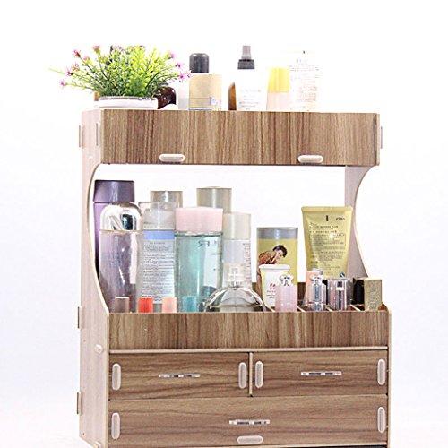 Mingteng Storage Box Fashion Wood Desk Desktop Multifunction Make Up Cosmetic Storage Box Storage Box Home Storage Box Planters (Size : 4) by Mingteng (Image #1)