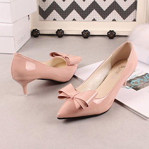 punta donna da moda con Scarpette Xue col scarpe argento rosa Scarpe basse con con tacco rosse Scarpe a tacco 34 scarpe alto Qiqi FwOfwqv
