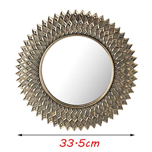 JWZQ Round Wall Mirror, Vintage Resin Decorative Mirror [Small, 20 -