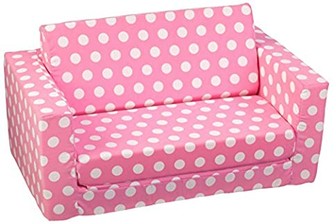 KidKraft Girl's Pink with White Polka Dots Lil' Lounger