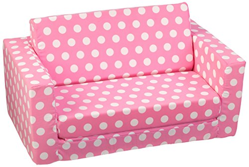 KidKraft Girls White Polka Lounger product image