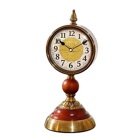 GongDi Reloj de Mesa Retro hogar Escritorio clásica decoración de ...