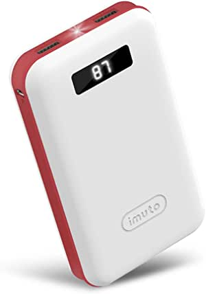 iMuto 20000mAh Portable Charger Compact Power Bank External Battery Pack with LED Digital Display &Smart Charge, Li-Polymer Battery Banks for iPhone 11/11 Pro/11 Pro Max, iPad, Samsung Galaxy/Note, Tablet &More