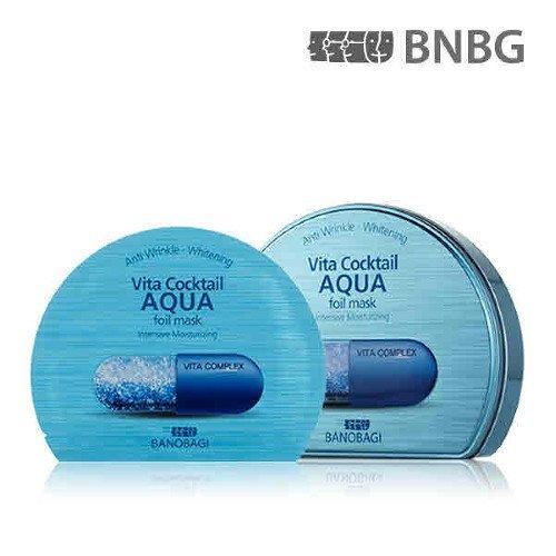 - New BANOBAGI Vita Cocktail Aqua Foil Mask Sheet 30ml 10pcs Set for Intensive Moisturizing