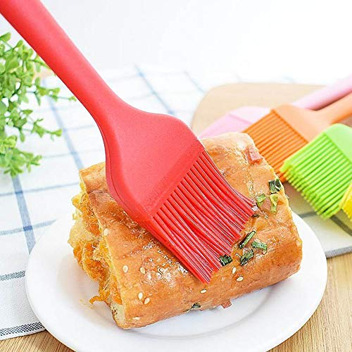 Basting Brushes Silicone, Heat Resistant Pastry Butter Oil Baking Brushes for Cooking Baking Barbecue Grilling, 4 Pieces/Lot
