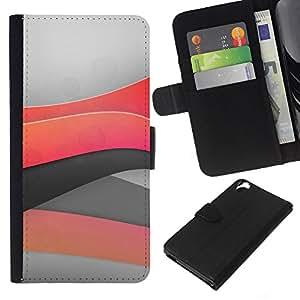 Planetar® Modelo colorido cuero carpeta tirón caso cubierta piel Holster Funda protección Para HTC Desire 820 ( Minimal light waves )