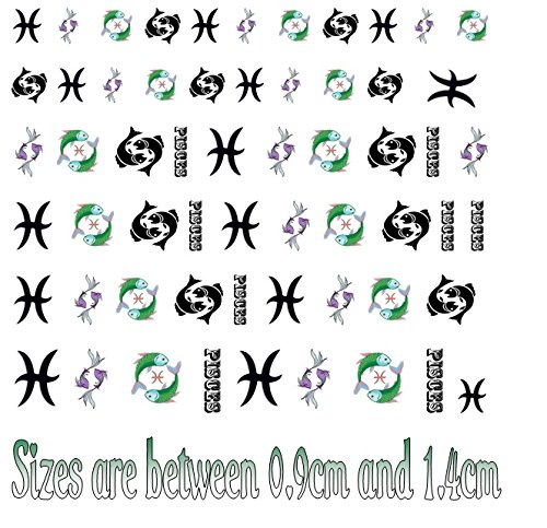 (Pisces Zodiac Collection (Pisces Nail Art Decals))