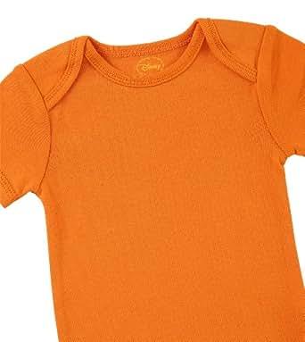 "Disney Cuddly Bodysuit with Grow an Inch Snaps, Lion King ""Big Roar""  3 Pack, Brown/Orange/Green, 6-9 Months"