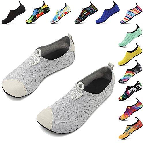 Quick Dry Men Aqua Beach Women Socks Kids Exercise Grey Shoes Coolloog Shoes Water Yoga Unisex Barefoot for OwXIIF