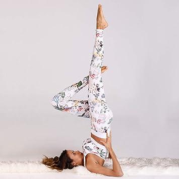 WYLYJTZ Pantalones de Yoga Juego de Yoga Floral para Mujer ...