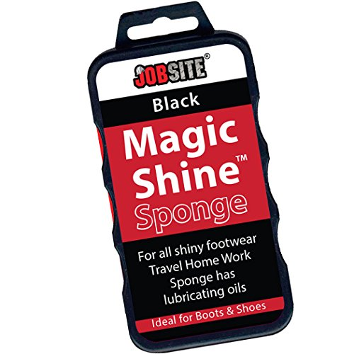 JobSite Instant Express Leather Boot & Shoe Shine Sponge - Fits in Purse or Bag for Quick Shine Buff on the Go for Leather & Vinyl Shoes, Boots, Purse, Belt and Car Auto Upholstery - Black Express Shine Sponge