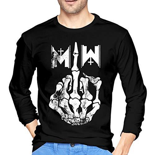JeremiahR Mens Motionless in White Long Sleeve Tshirt Black -