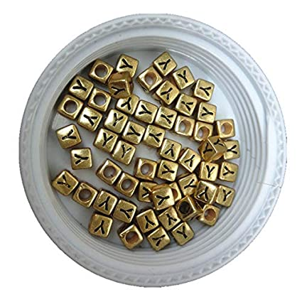 500pcs 2600pcs 6*6mm Gold Color Acrylic Plastic Letters Beads Single English Character Initial Z Printing Jewelry Pacer Beads Beads Jewelry & Accessories