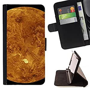 DEVIL CASE - FOR HTC One M9 - Red Planet Mars Yellow Craters Landscape View - Style PU Leather Case Wallet Flip Stand Flap Closure Cover
