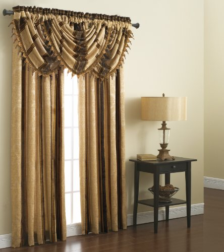 Chapel Hill by Croscill Marquis Lined T-Panel, 84-Inch, Espresso (Croscill Bedding Window)