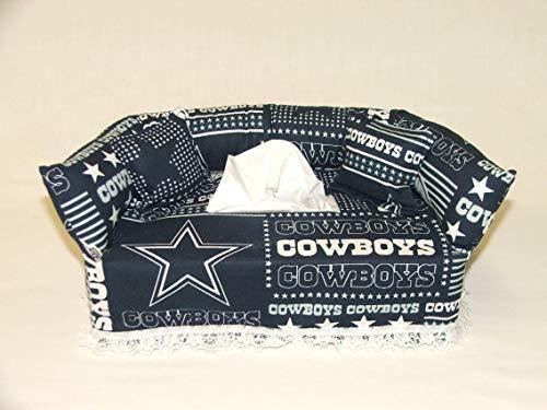 Dallas Cowboys NFL Licensed fabric tissue box cover. Includes Tissue