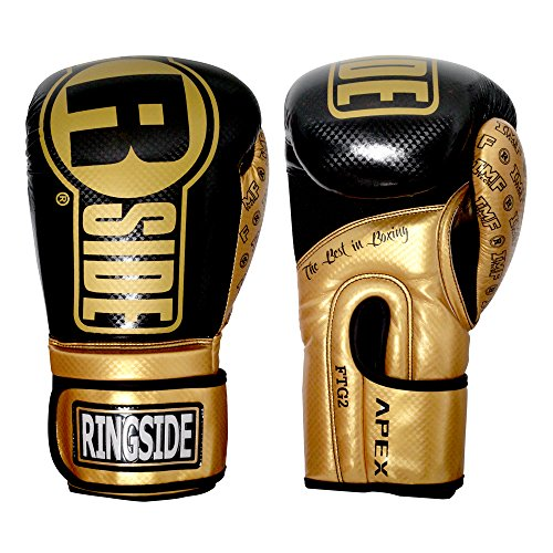 Ringside Apex Flash Sparring Gloves, Black/Green, 14 oz