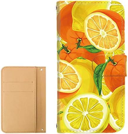 スマホケース 手帳型 カードタイプ AQUOS SERIE mini (SHV33) [トロピカル・カラフル] LEMON フルーツ レモン アクオス セリエ ミニ スマホカバー 携帯カバー [FFANY] tropical 129@01c