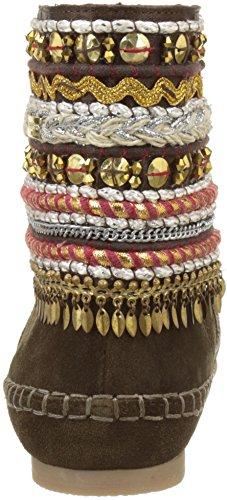 M Brown Indian marrone Les Boots By Women Belarbi Tropéziennes Kan qn7gT