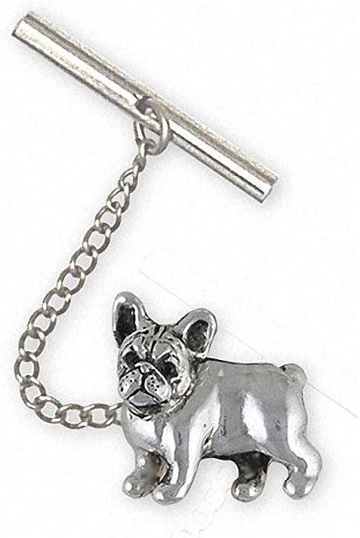 French Bulldog Jewelry FR31-TT- Corbata de plata de ley con diseño ...