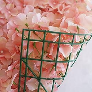 Efavormart 4 PCS Blush Silk Hydrangea Flower Mat Wall Wedding Event Decor for DIY Centerpieces Arrangements Party Home Decorations 3