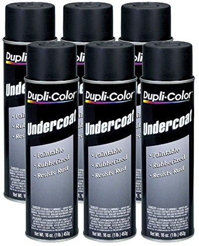 (Dupli-Color UC101 Paintable Rubberized Undercoat (16 oz) - 6 Pack)