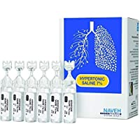 RSV Hypertonic Saline Solution 7% - Nebulizer diluent for inhalators and nasal hygiene devices Helps Clear Congestion from Airways and Lungs – Reduce Mucus (25 Sterile Saline Bullets of 5ml)