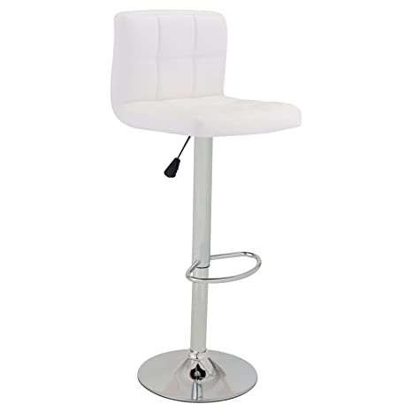 Magnificent Gentleshower Swivel Bar Chair Modern Square Shape Barstool Bistro Chair Pu Leather Adjustable Hydraulic Swivel Pub Chair Counter Backrest White Caraccident5 Cool Chair Designs And Ideas Caraccident5Info