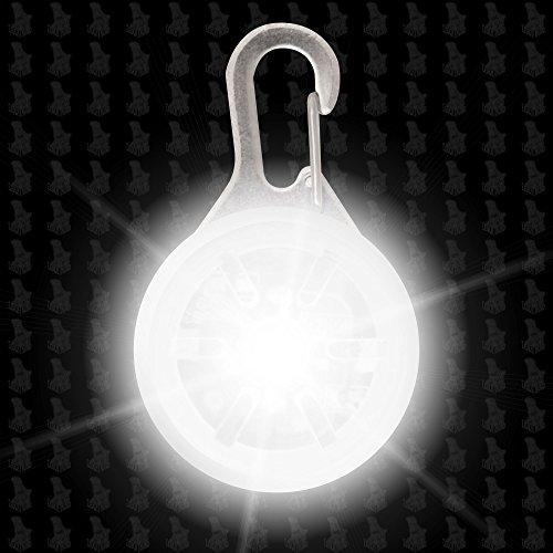 Hunde Leuchtanhänger Leuchthalsband Led Hundehalsband LH6 Blinkie von Leuchthund® Led Anhänger (weiß)