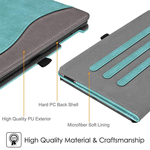Fintie Case for Samsung Galaxy Tab A 10.1 2019 Model SM-T510(Wi-Fi) SM-T515(LTE) SM-T517(Sprint), Multi-Angle Viewing Stand Cover with Packet, Denim Turquoise