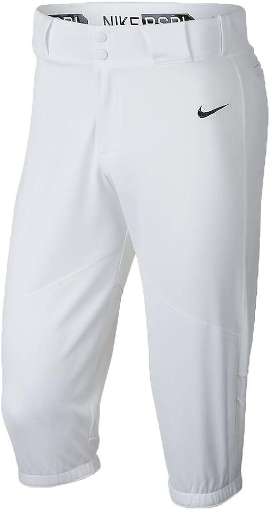 Nike Men's Pro Vapor High Baseball Pants(White, XXX Large