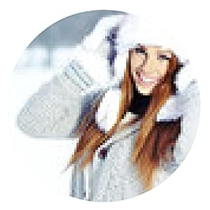 alfombrilla de ratón Mujer joven atractiva en invierno al aire libre - ronda - 20cm