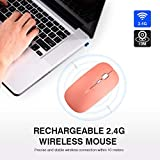 Rechargeable Wireless Mouse,inphic Mute Silent