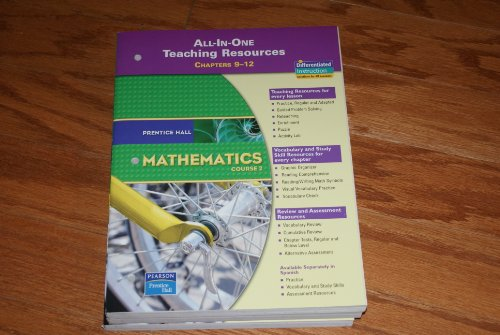 - PRENTICE HALL MATH COURSE 2 ALL IN ONE TEACHING RESOURCES FOR CHAPTERS 9-12 (BLACKLINE MASTERS) 2007