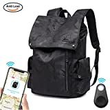 Laptop Outdoor Backpack, Travel Hiking& Camping Waterproof Pack with Bluetooth Anti-loss Device, Casual Large College School Daypack, Shoulder Book Bags Back Fits 15'' Laptop & Tablets (Black Camo)