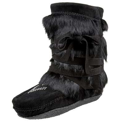 Manitobah Mukluks Women's Half Wrap Muk Pull-On Boot,BLACK,5 M US