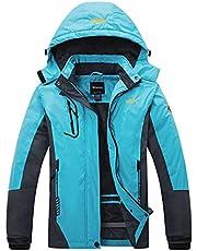 Wantdo Women's Anorak Fleece Ski Jacket Waterproof