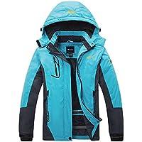 Wantdo campera de esquí de polar, impermeable, de montaña, para mujer. Rompevientos impermeable.