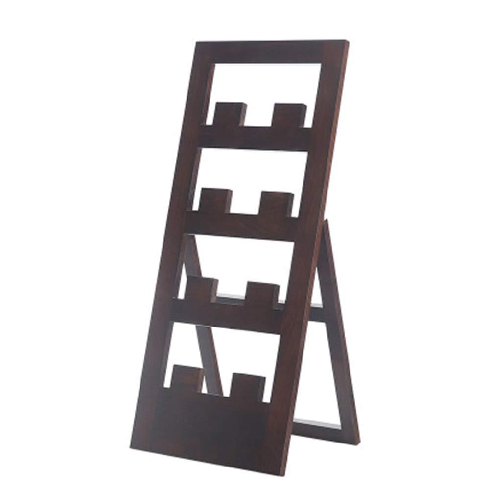 JIANFEI Shoe Shelf Rack Multi-Layer Multifunction Foldable Waterproof Beech 2 Colours (Color : Black, Size : 33x1.5x77cm)